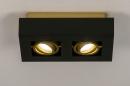Plafondlamp 74135: design, modern, metaal, zwart #2