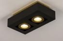 Plafondlamp 74135: design, modern, metaal, zwart #3