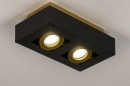 Plafondlamp 74135: design, modern, metaal, zwart #4
