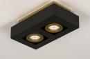 Plafondlamp 74135: design, modern, metaal, zwart #5