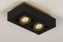 Plafondlamp 74135: design, modern, metaal, zwart #6