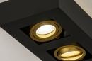 Plafondlamp 74135: design, modern, metaal, zwart #7