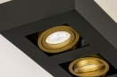 Plafondlamp 74135: design, modern, metaal, zwart #8