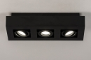 Plafondlamp 74136: design, modern, metaal, zwart #2