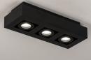 Plafondlamp 74136: design, modern, metaal, zwart #3
