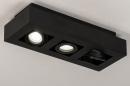 Plafondlamp 74136: design, modern, metaal, zwart #4