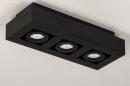 Plafondlamp 74136: design, modern, metaal, zwart #5