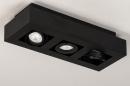 Plafondlamp 74136: design, modern, metaal, zwart #6