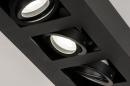 Plafondlamp 74136: design, modern, metaal, zwart #7