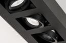 Plafondlamp 74136: design, modern, metaal, zwart #8