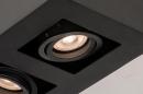 Plafondlamp 74136: design, modern, metaal, zwart #9