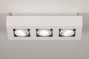 Plafondlamp 74137: design, modern, metaal, wit #1