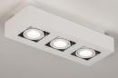 Plafondlamp 74137: design, modern, metaal, wit #2