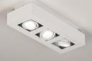 Plafondlamp 74137: design, modern, metaal, wit #3