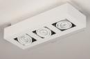 Plafondlamp 74137: design, modern, metaal, wit #4