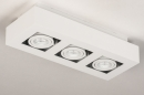 Plafondlamp 74137: design, modern, metaal, wit #5