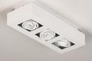 Plafondlamp 74137: design, modern, metaal, wit #6