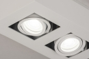 Plafondlamp 74137: design, modern, metaal, wit #7