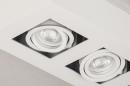 Plafondlamp 74137: design, modern, metaal, wit #8
