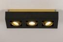 Plafondlamp 74138: design, modern, metaal, zwart #2