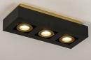 Plafondlamp 74138: design, modern, metaal, zwart #3