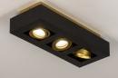 Plafondlamp 74138: design, modern, metaal, zwart #4