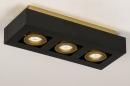 Plafondlamp 74138: design, modern, metaal, zwart #5