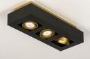 Plafondlamp 74138: design, modern, metaal, zwart #6