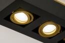 Plafondlamp 74138: design, modern, metaal, zwart #7