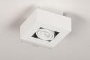Plafondlamp 74143: design, modern, metaal, wit #1