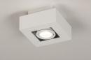 Plafondlamp 74143: design, modern, metaal, wit #2