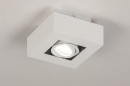 Plafondlamp 74143: design, modern, metaal, wit #5