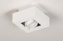 Plafondlamp 74143: design, modern, metaal, wit #6