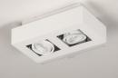 Plafondlamp 74144: design, modern, metaal, wit #1