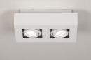 Plafondlamp 74144: design, modern, metaal, wit #2