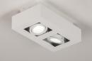 Plafondlamp 74144: design, modern, metaal, wit #3
