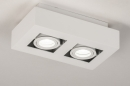Plafondlamp 74144: design, modern, metaal, wit #4