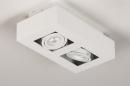 Plafondlamp 74144: design, modern, metaal, wit #5