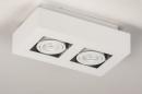 Plafondlamp 74144: design, modern, metaal, wit #6
