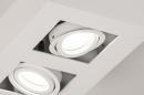 Plafondlamp 74144: design, modern, metaal, wit #7