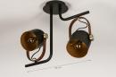 Plafondlamp 74153: industrie, look, modern, eigentijds klassiek #1