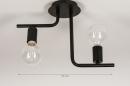 Plafondlamp 74155: modern, stoer, raw, metaal #1