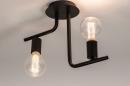 Plafondlamp 74155: modern, stoer, raw, metaal #2