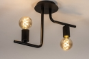 Plafondlamp 74155: modern, stoer, raw, metaal #4