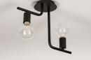 Plafondlamp 74155: modern, stoer, raw, metaal #5