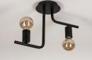 Plafondlamp 74155: modern, stoer, raw, metaal #6