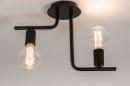 Plafondlamp 74155: modern, stoer, raw, metaal #9