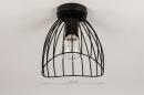Plafondlamp 74166: modern, retro, metaal, zwart #1
