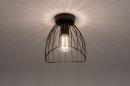 Plafondlamp 74166: modern, retro, metaal, zwart #2