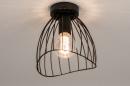 Plafondlamp 74166: modern, retro, metaal, zwart #3